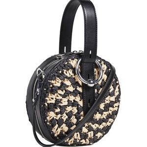 REBECCA MINKOFF Kate Woven Circle Bag